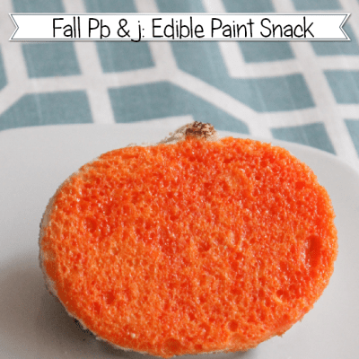 Fall Snack with Edible Paint