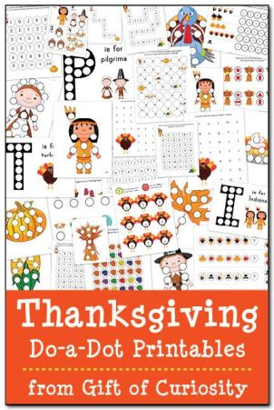 thanksgiving printables dots