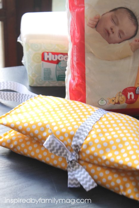diy diaper clutch