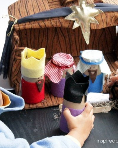 Easy Nativity Craft from Toilet Paper Tubes for Kids