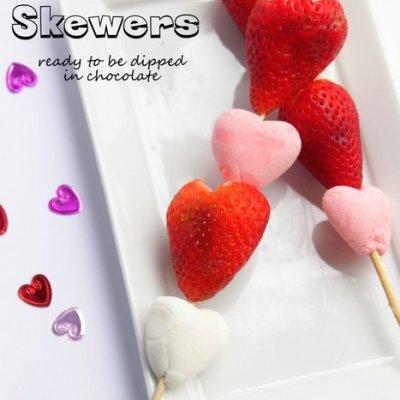 Valentine's Day Easy Dessert: Heart Skewers