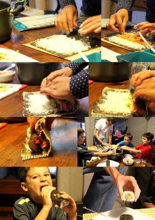 sushi making family activity