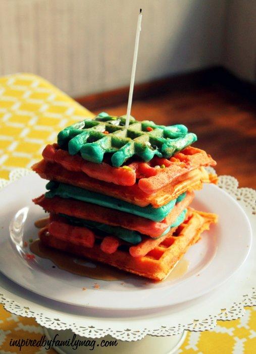 birthday waffles cake