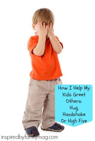 hug handshake high five