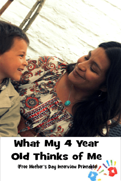 What My Toddler Thinks of Me {Mother's Day Interview Printable}