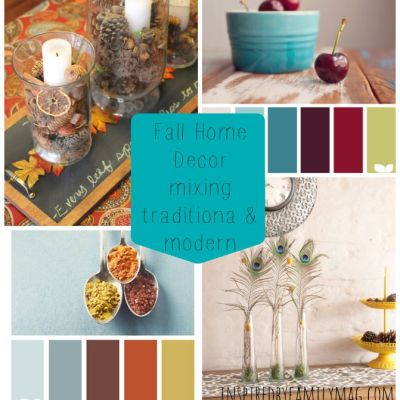 Fall Home Decor Mixing Traditional & Modern
