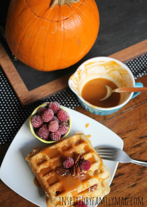 pumpkin waffles breakfast