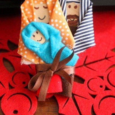Christmas Nativity Craft Stick Ornament