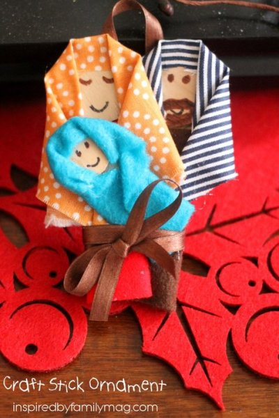 Christmas Nativity Craft Stick Ornament