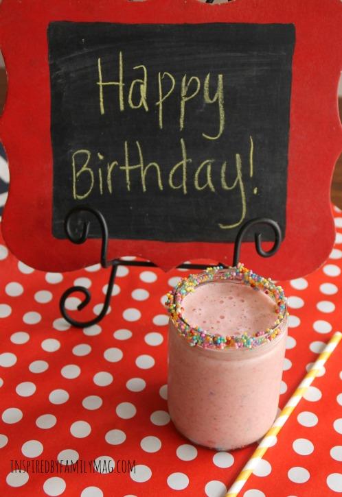 birthday smoothie