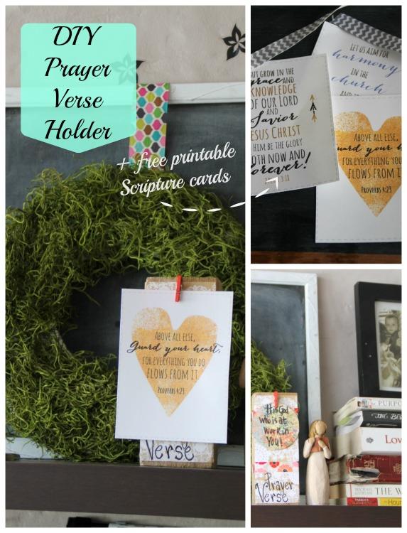 diy prayer verse holder