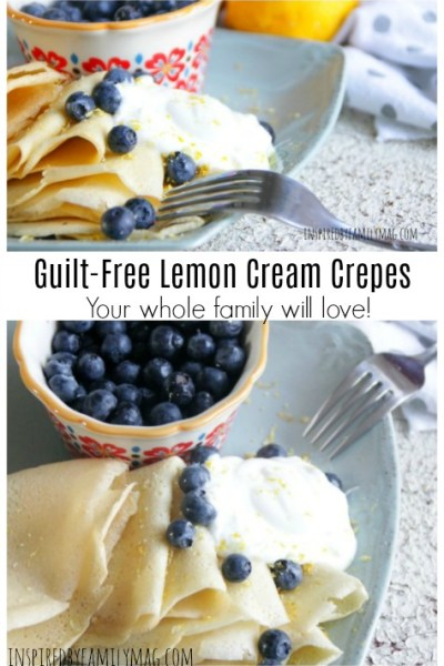 Amazing Guilt-Free Lemon Cream Filled Crepes Your Family Will Love