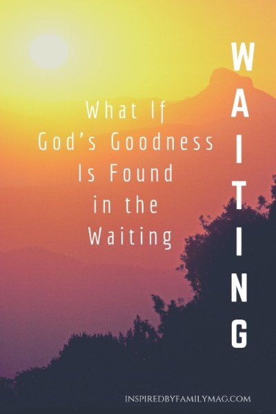 What If God's Goodness Is Found in the Waiting?