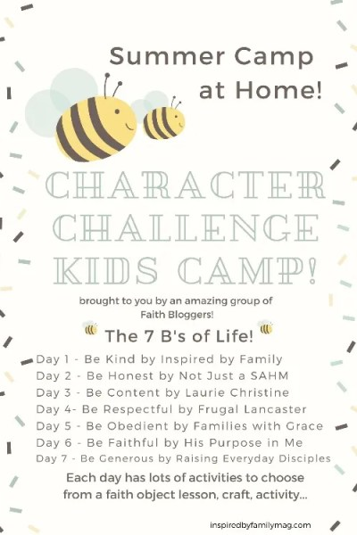 DIY Summer Camp at Home: Character Kids Challenge