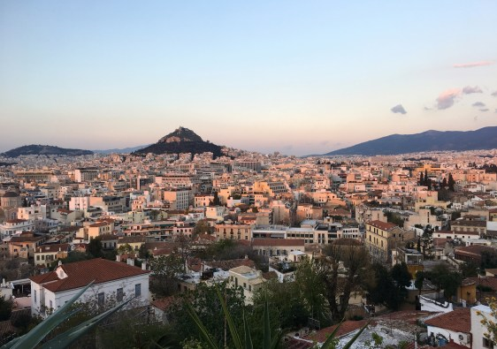 Traveling to Greece, View from Athens
