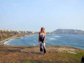 Miraflores coast in Lima, Peru