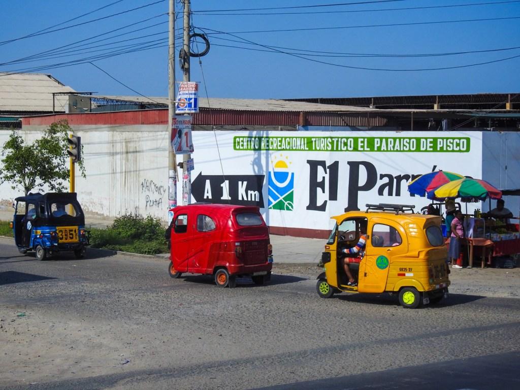 Small cars in Paracas, Peru