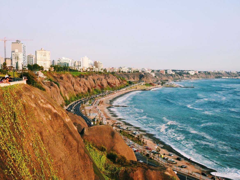 Coastline Miraflores, Lima, Peru