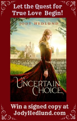 Let the Quest for True Love Begin! Win a signed copy at JodyHedlund.com