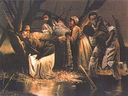 Depiction of the Underground Railroad