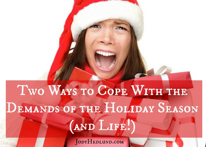 Two Ways to Cope With the Demands of the Holiday Season (and Life!)