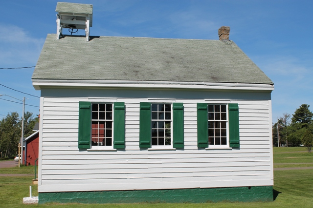 Old school house in Eagle Harbor