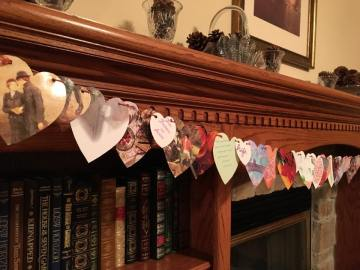 Katy made her garland from old greeting cards.