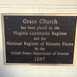 Grace Episcopal plaque