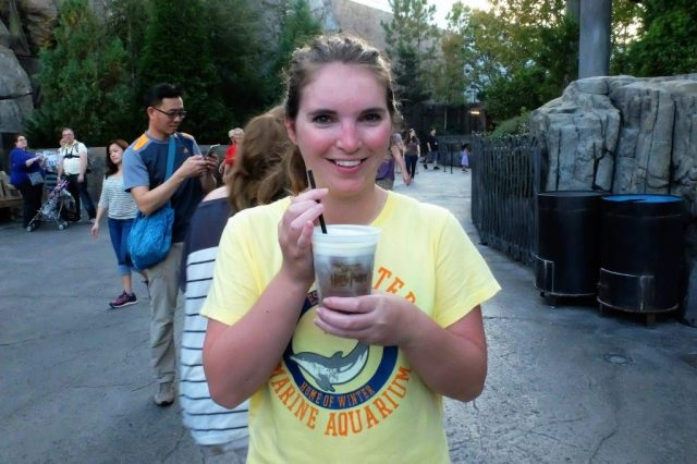 Frozen Butterbeer after the 'traumatic' hippogriff ride!