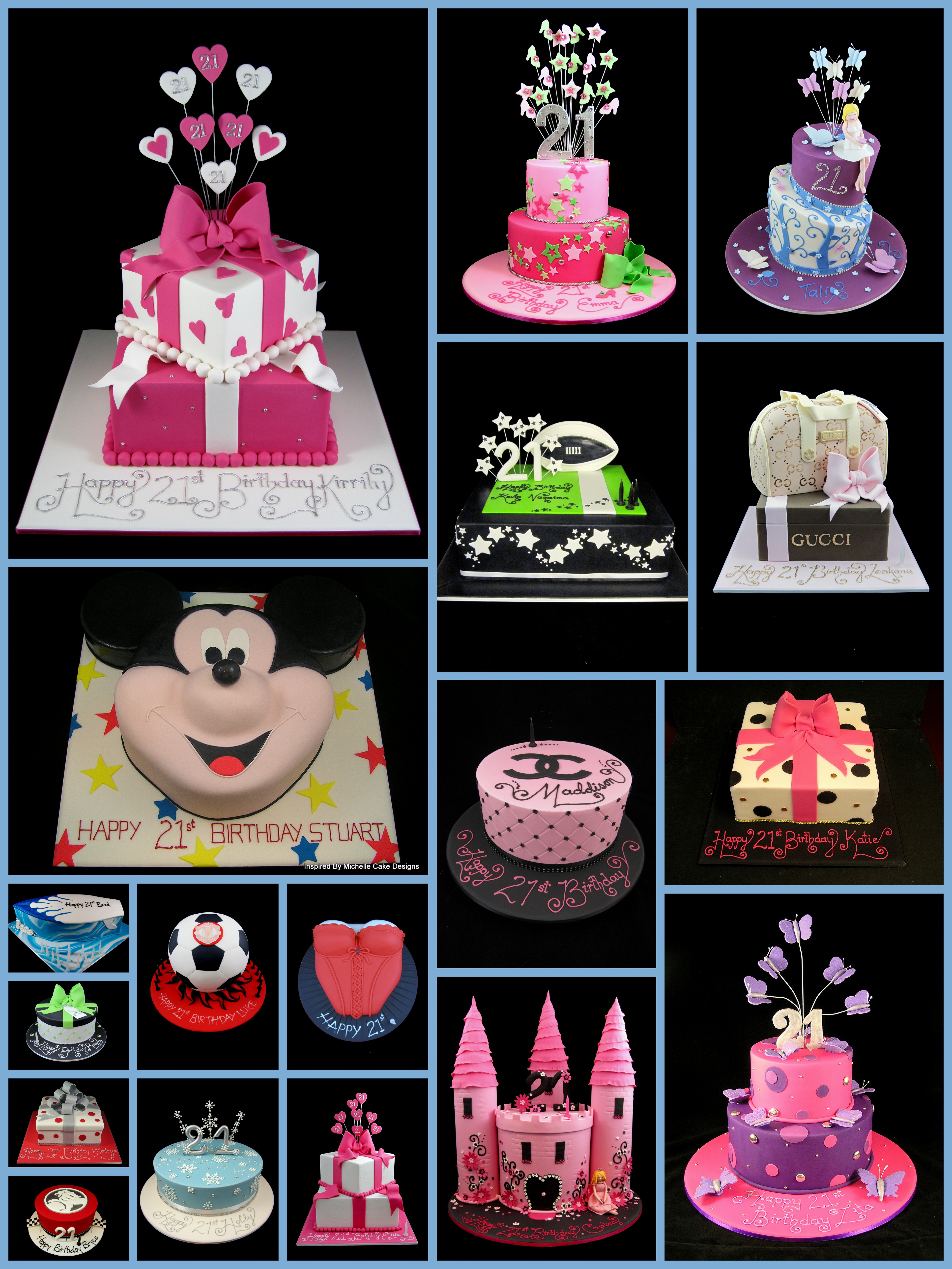 21st Birthday Cake Ideas For Girls And Boys Inspired By Michelle