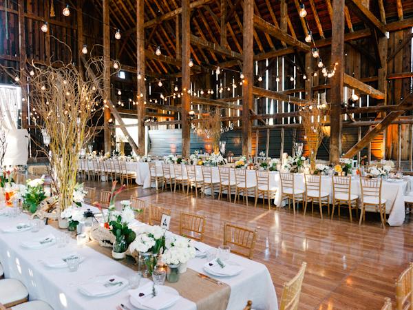 Elegant Wedding In A Barn