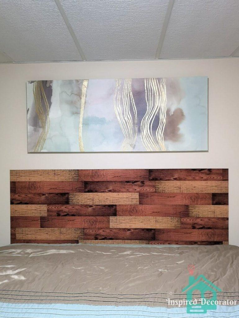 Easy Diy Plank Headboard The Inspired Decorator