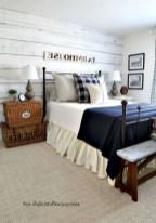 48+ beautiful Farmhouse Style Master Bedroom Ideas 42