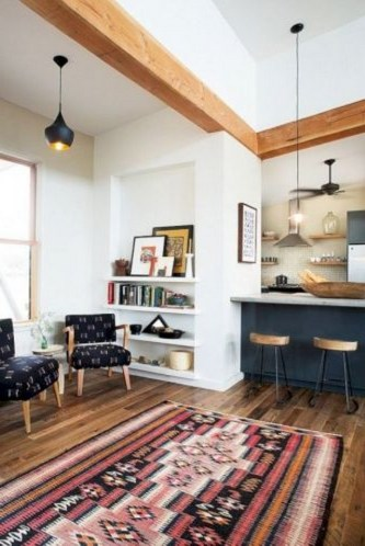 52+ Amazing Mid Century Living Room Decor Ideas 44