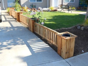 63+ Inspiring DIY Front Yard Privacy Fence Remodel Ideas (55)