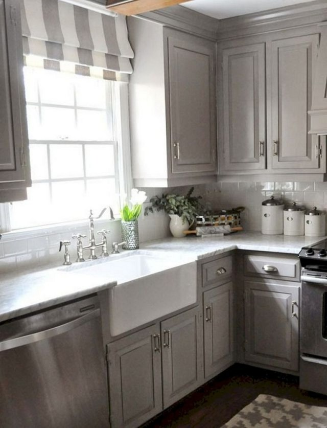 70 Amazing Farmhouse Gray Kitchen Cabinet Design Ideas Page 2 Of 74