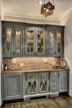 70+ Amazing Farmhouse Gray Kitchen Cabinet Design Ideas 10