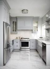 70+ Amazing Farmhouse Gray Kitchen Cabinet Design Ideas 14