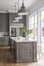 70+ Amazing Farmhouse Gray Kitchen Cabinet Design Ideas 40