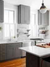 70+ Amazing Farmhouse Gray Kitchen Cabinet Design Ideas 47