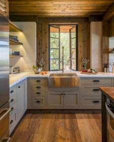 70+ Amazing Farmhouse Gray Kitchen Cabinet Design Ideas 50