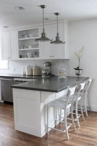 70+ Amazing Farmhouse Gray Kitchen Cabinet Design Ideas 54