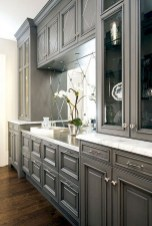 70+ Amazing Farmhouse Gray Kitchen Cabinet Design Ideas 58