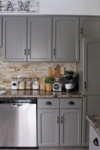 70+ Amazing Farmhouse Gray Kitchen Cabinet Design Ideas 62