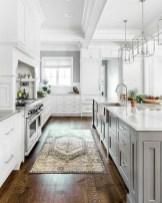 70+ Amazing Farmhouse Gray Kitchen Cabinet Design Ideas 65