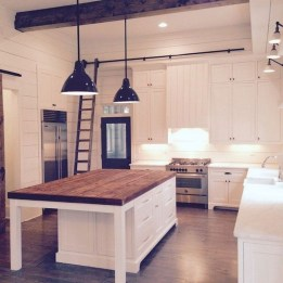 75+ Rustic Farmhouse Style Kitchen Makeover Ideas 05