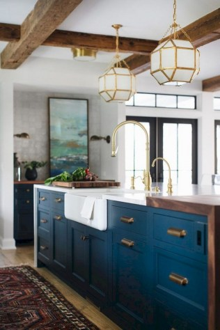 75+ Rustic Farmhouse Style Kitchen Makeover Ideas 75