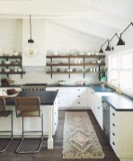 75+ Rustic Farmhouse Style Kitchen Makeover Ideas 79