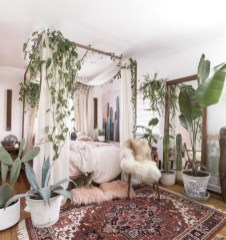 30+ Stunning Bohemian Bedroom Decor For Small Space (19)