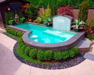 33+ Wonderful Small Backyard Ideas With Swimming Pool Design (25)
